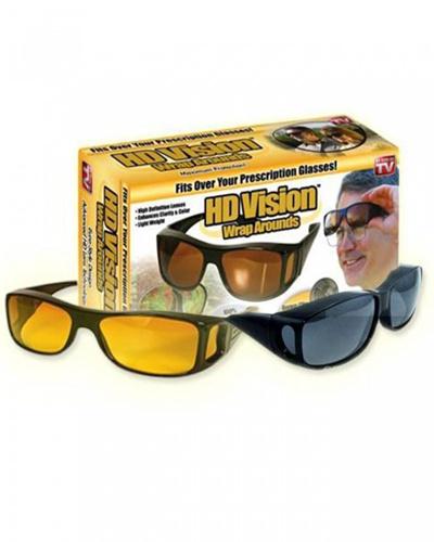 HD Vision Wrap Arounds Sunglasses Set of 2pcs - Kacamata UV  Protection-Q00143 fd2dc86fd4