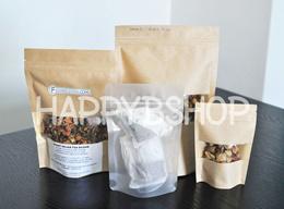 Kraft paper ziplock bag window base|Kraft ziplock bag|Kraft paperbag|Zipper pouch|Ziplock pouch