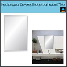 Rectangular Beveled Edge Bathroom Frameless Mirror