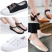 women sandals Sneakers canvas leather shoes Casual ladies sports shoe Slippers boots flats heels