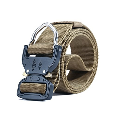 Grubyhouse MOLLE Tactical Rigger D-Ring Waist Belt Clip Compact Rappel  Universal CQB Military Web Ny
