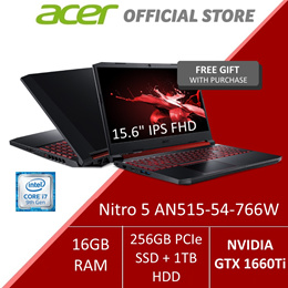 Acer Nitro 5 AN515-54-766W with the Latest 9th Gen i7 Intel Processor and GTX 1660Ti Graphics