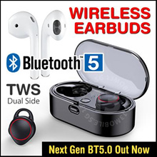 BLUETOOTH 5.0 ★ Baseus QCY Awei Remax True Wireless Bluetooth Earbuds Earphone Earpiece Headphone
