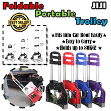 ★TROLLEY! ★Aluminium ★Foldable Stairs Climbing Durable Trolley ★Travel Cart ★ Portable Supermarket
