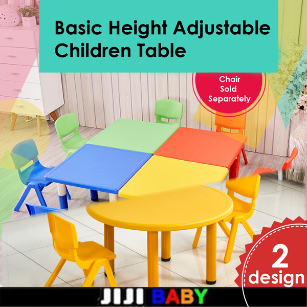 ?Basic Height Adjustable Children Table?Study table?Dining Table?Play table?multi purpose? Deals for only S$69.9 instead of S$69.9