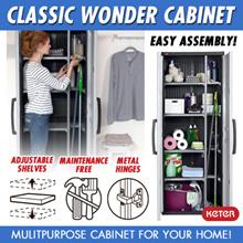 [Keter] Classic Wonder Multipurpose Cabinet (68x38x176 cm) Indoor Storage Plastic Cabinet