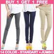 BIG SALE- [BUY 1 GET 1] Casual Pants Stretch 14 WARNA Good Quality/LEGGING