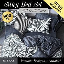 [ETOZ] NEW DESIGNS!! 950 TC Silky Bed Set (With Quilt Cover) ★Different Design Available★