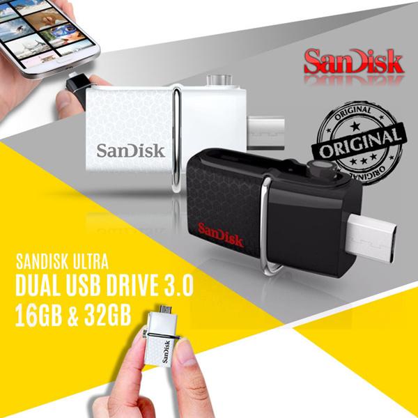 SanDisk USB 3.0 Ultra Dual USB Drive OTG 16GB~32GB GARANSI RESMI SANDISK INDONESIA Deals for only Rp119.000 instead of Rp119.000