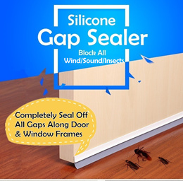 Silicone Gap Seal for Door and Windows | Complete seal off all gaps | Good Wind Sound Insect Blocker