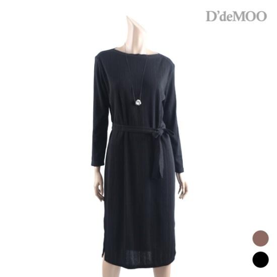 ディデムリボンHラインロングワンピースKW1710521 面ワンピース/ 韓国ファッション