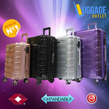 ★Shining star★Hard Shell 8 Wheel Spinner ABS PC Expandable TSA lock Luggage Trolley Case