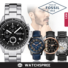 *FOSSIL GENUINE* Fossil Leather and Stainless Steel Watches for Men! Free Shipping and Warranty!