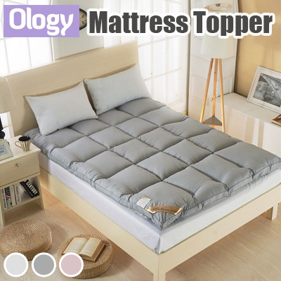 Mattress Topper Cover 5cm 10cm Thick Protector Anti-bacterial Anti-mite Foam Quilt Tatami Blanket Deals for only S$129 instead of S$0