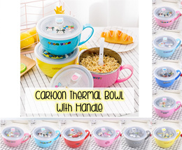 💖 Cartoon Thermal Air Tight Bowls 💖 Hello Kitty Kitchen Kids Children Birthday Gifts School Office