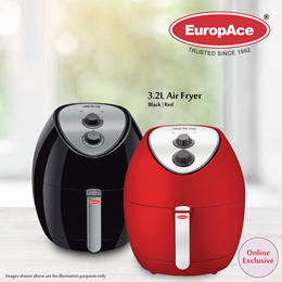 *Online Exclusive* EuropAce Airfryer Large Capacity 3.2L Air Fryer EAF 5321S - 15 Months Warranty!