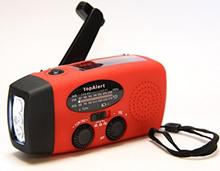 topAlert HY-88WB Emergency Dynamo Solar Self Powered AM/FM/WB(NOAA) Radio w/ LED Flashlight, Cell Ph
