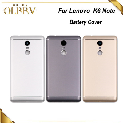OLRRV 5 5 inch For Lenovo K6 Note Battery Cover 100% New Durable Back Case  Phone Accessory for Lenov