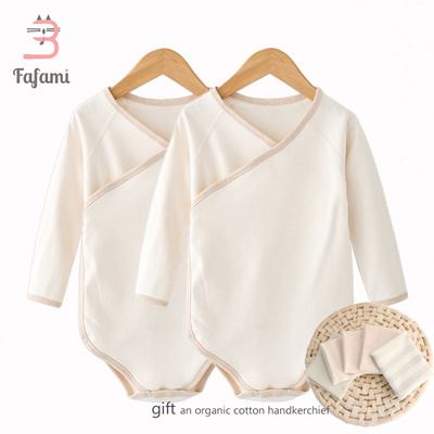 0f2ec441a0afb 2 pcs/lot Organic Tiny Cottons Baby Rompers Costume Lucky Child Baby  Clothes for Newborn Baby boy gi