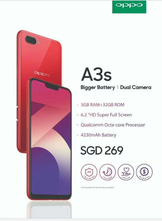 OPPO** NEW RELEASE ** OPPO A3s 3GB RAM / 32GB ROM
