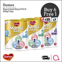 [DUMEX] [6+1 PROMO] Mamil Gold Step 2/3/4/5/ HA/Babies/ Kids Milk Formula