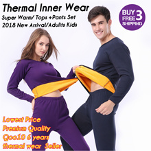 2018 New Winter Thermal Inner Wear / Ladys thermal wear/ Mens thermal wear/Kids thermal wear/warm