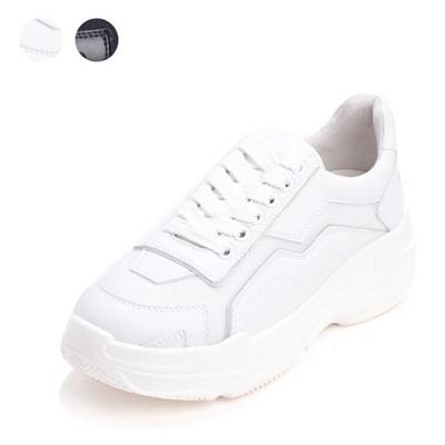 SAERA C18W010 Black, White Sneakers 6CM