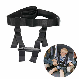 Xpeciall Child Airplane Travel Safety Harness Clip Strap System (Black)