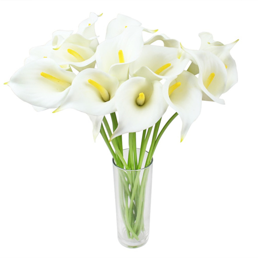 Qoo10 Real Touch Decorative Artificial Flower Calla Lily Artificial Flowers Furniture Deco