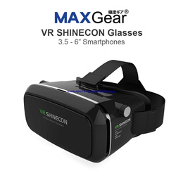 MAXGear VR SHINECON Virtual Reality Headset 3D Glasses VRBOX Gear Max 6 Inch + Bluetooth Controller