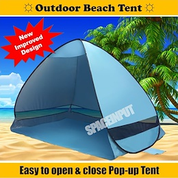 ★IMPROVED DESIGN AND COLOURS★ Outdoor Portable Pop Up Beach Tent