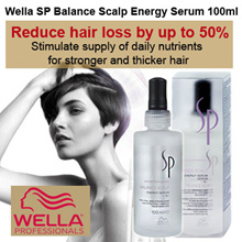 Wella SP Balance Scalp Energy Serum 100ml (Scalp Treatment)- Reduce hair loss by up to 50%. Stimulate supply of daily nutrients for stronger and thicker hair