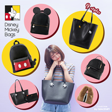 Disney Mickey Minnie Chip and Dale Backpacks Handbags/Women/Girls Bags/Taiwan Fashion