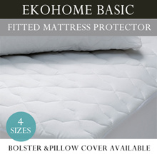 11.11[Ekohome Basic] Fitted Mattress Protector 4 Sizes / Add On Option for Bolster and Pillow