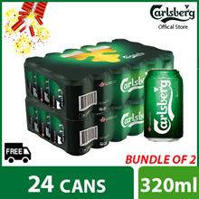 ($83.88) with $8 Cart and $2 shop coupon Bundle of 2 - Carlsberg Green Label Can 320ml ( 48 cans )