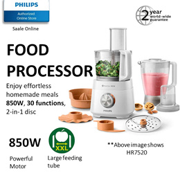 {NEW} Philips Daily Collection Food Processor - 850W HR7520 | 700W HR7320 with 2 years warranty