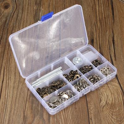 30 Sets Metal Black Heavy Duty Snap Fasteners Popper Press Studs Buttons  Kit Tool 15mm