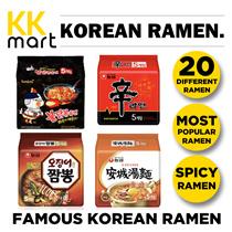 FAMOUS KOREAN INSTANT RAMENS - Multipack Ramen. [4-5 Packets/Bundle]  (Ramensari / Samyang /JinRamen / Kimchi / Curry / GamJaMyun / Bibim / Jjapagetti / Jjajang / Jjampong / buldak / shin ramen)