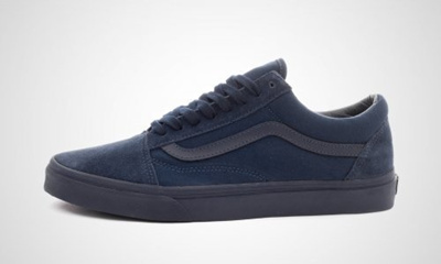 perfect quality attractive price cheap VANSVans Old Skool Mono Mens Blue Canvas Lace Up Sneakers Shoes