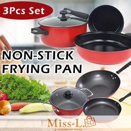 [$10.90 OFFER} NON-STICK FRYING PAN 3PCS SET/ happycall/ frying pan/ Pot/ claypot