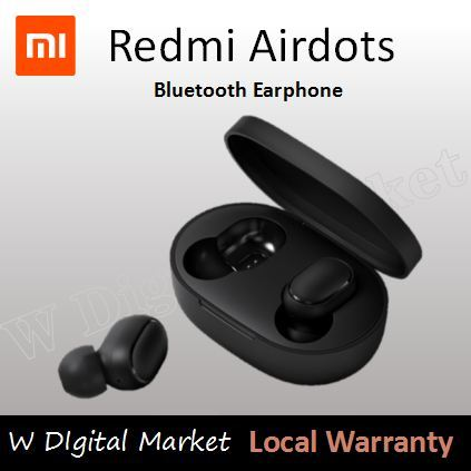 Xiaomi Redmi Airdots Earbuds Wireless Earphone Airpod Earburds QCY/QCY T1 12-hour long battery life Deals for only S$89 instead of S$89
