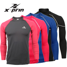 XPRIN (100 Series - Long sleeve)compression skin wear tight gear base layer running sports wear Golf inner wear jersey
