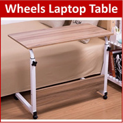 BC*Wheel Laptop Table Study Portable Bed Desk PC Notebook Lazy Wooden Wood Stand Holder Computer Lap