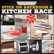 STICK ON BATHROOM AND KITCHEN RACKS