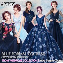 Royal Blue Gown Navy Prom Dress Light Blue Formal Dress Dark Blue Cocktail Mermaid Evening Dresses