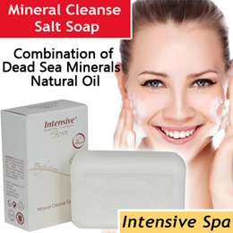 Intensive Spa - Perfection Mineral Cleanse Facial Salt Soap (Dead Sea Skincare Beauty) ★ For All Skin Types ★ Whitening Effect ★ Reduces Blemishes and Dark Spots ★ etc