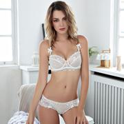 ad34b5cfaf Plus size 90C 90D 95C 95D ultra - thin half cup underwear sets lace sexy bra