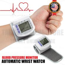 Digital Automatic Wrist Watch Blood Pressure Monitor Heart Beat Meter