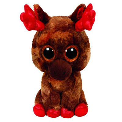 76b9cd0d060bb Ty Beanie Boos 15cm Tinsel the Christmas Reindeer Plush Stuffed Animal  Collectible Soft Doll Toy