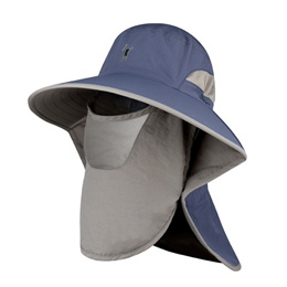 Outdoor Sun Shield Hat UPF 50+ Sun Cap with Neck Face Flap for Camping Gardening Cycling Hiking